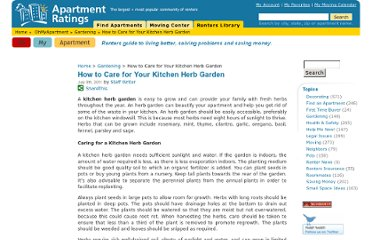 http://ohmyapt.apartmentratings.com/how-to-care-for-your-kitchen-herb-garden.html