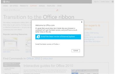 http://office.microsoft.com/en-us/support/office-ribbon-find-commands-FX101851541.aspx