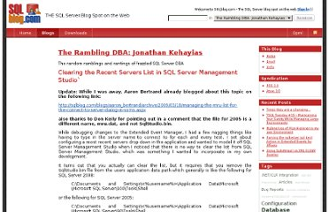http://sqlblog.com/blogs/jonathan_kehayias/archive/2009/04/20/clearing-the-recent-servers-list-in-sql-server-management-studio.aspx