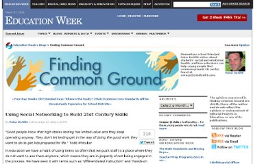 http://blogs.edweek.org/edweek/finding_common_ground/2011/11/using_social_networking_to_build_21st_century_skills.html