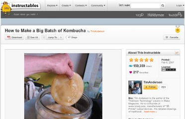 http://www.instructables.com/id/How-to-Make-a-Big-Batch-of-Kombucha/