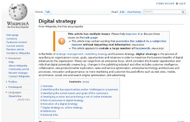 http://en.wikipedia.org/wiki/Digital_strategy