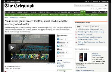 http://www.telegraph.co.uk/technology/twitter/4806238/Amsterdam-plane-crash-Twitter-social-media-and-the-anatomy-of-a-disaster.html