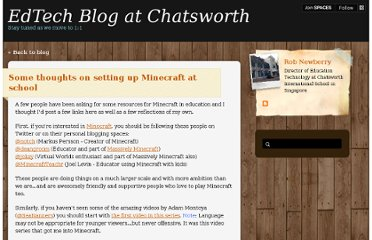 http://chatsworth.posterous.com/some-thoughts-on-setting-up-minecraft-at-scho