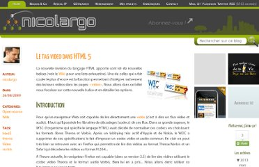 http://blog.nicolargo.com/2009/08/le-tag-video-dans-html-5.html