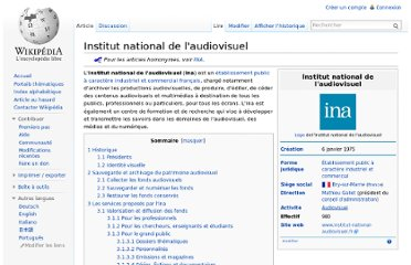 http://fr.wikipedia.org/wiki/Institut_national_de_l%27audiovisuel