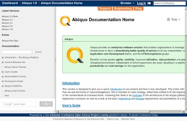 http://wiki.abiquo.com/display/ABI18/Abiquo+Documentation+Home