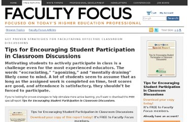 http://www.facultyfocus.com/free-reports/tips-for-encouraging-student-participation-in-classroom-discussions/