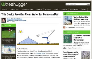 http://www.treehugger.com/clean-technology/this-device-provides-clean-water-for-pennies-a-day.html