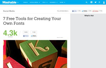 http://mashable.com/2011/11/17/free-font-creation-tools/