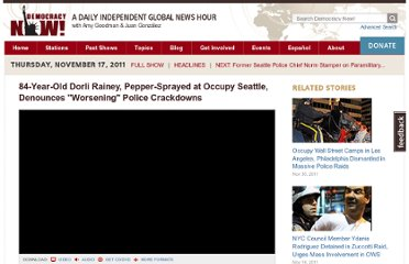 http://www.democracynow.org/2011/11/17/84_year_old_dorli_rainey_pepper