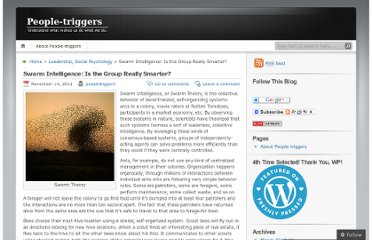 http://peopletriggers.wordpress.com/2011/11/14/swarm-intelligence-is-the-group-really-smarter/