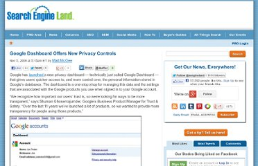 http://searchengineland.com/google-dashboard-offers-new-privacy-controls-29223