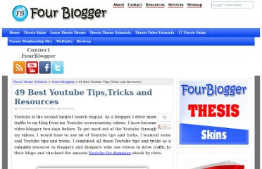 http://fourblogger.com/49-best-youtube-tips-tricks-and-resources/