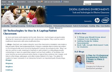 http://www.guide2digitallearning.com//professional_development/10_technologies_use_laptop_tablet_classroom