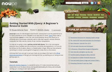 http://www.noupe.com/design/getting-started-with-jquery-a-beginners-resource-guide.html