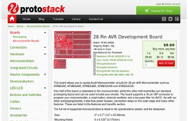 http://www.protostack.com/boards/microcontroller-boards/28-pin-avr-development-board