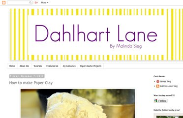 http://dahlhartlane.blogspot.com/2011/10/how-to-make-paper-clay.html