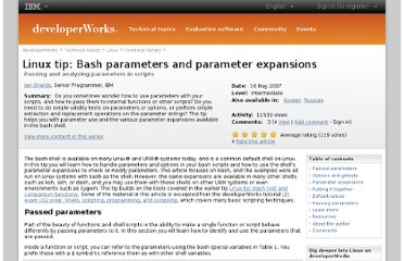 http://www.ibm.com/developerworks/library/l-bash-parameters/index.html