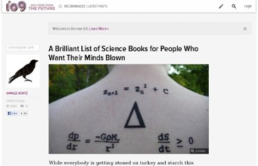 http://io9.com/5859727/a-brilliant-list-of-science-books-for-people-who-want-their-minds-blown