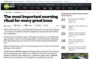 http://www.cbsnews.com/8301-505143_162-57326630/the-most-important-morning-ritual-for-every-great-boss/