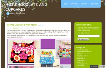 http://hotchocolateandcupcakes.wordpress.com/category/organization/