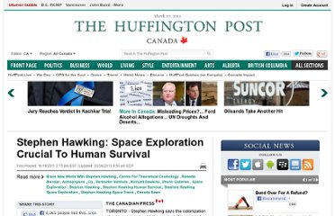 http://www.huffingtonpost.ca/2011/11/18/stephen-hawking-space-exploration_n_1101975.html