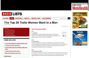 http://www.menshealth.com/mhlists/most_desirable_traits/Top_5_Practical_Skills.php