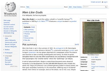 http://en.wikipedia.org/wiki/Men_Like_Gods