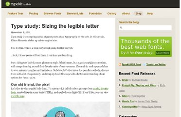 http://blog.typekit.com/2011/11/09/type-study-sizing-the-legible-letter/