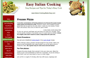 http://www.italian-cooking-made-easy.com/frozenpizza.html