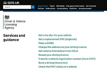 http://www.dft.gov.uk/dvla/
