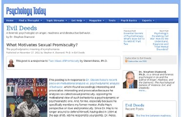 http://www.psychologytoday.com/blog/evil-deeds/201111/what-motivates-sexual-promiscuity