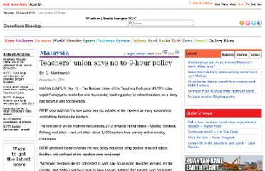 http://www.themalaysianinsider.com/malaysia/article/teacher-union-says-no-to-9-hour-policy/