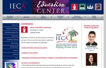 http://www.educationalconsulting.org/conferences.html