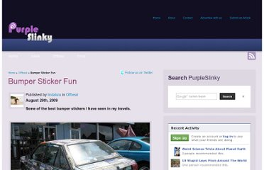 http://purpleslinky.com/offbeat/bumper-sticker-fun/