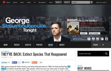 http://www.cbc.ca/strombo/alt-news/theyre-back-extinct-species-that-reappeared.html