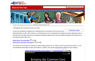 http://usny.nysed.gov/rttt/resources/bringing-the-common-core-to-life.html