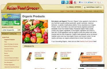 http://www.asianfoodgrocer.com/category/organic-products?gclid=CN73z76LxqwCFcFw4AoddhQXrA
