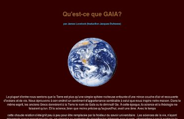 http://www.ecolo.org/lovelock/what_is_Gaia-fr.html