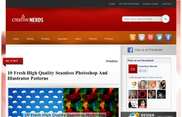 http://creativenerds.co.uk/freebies/10-fresh-high-quality-seamless-photoshop-and-illustrator-patterns/