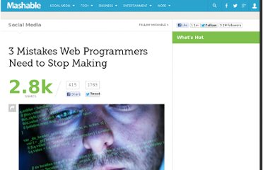 http://mashable.com/2011/11/20/web-programmer-mistakes/