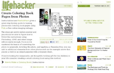 http://lifehacker.com/5861227/create-coloring-book-pages-from-photos