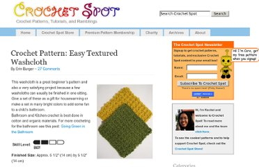 http://www.crochetspot.com/crochet-pattern-easy-textured-washcloth/