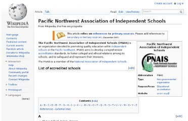 http://en.wikipedia.org/wiki/Pacific_Northwest_Association_of_Independent_Schools