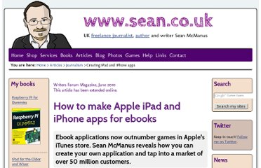 http://www.sean.co.uk/a/journalism/create_apple_iphone_ipad_apps_for_ebooks.shtm