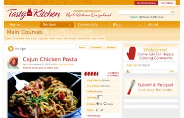 http://tastykitchen.com/recipes/main-courses/cajun-chicken-pasta-4/