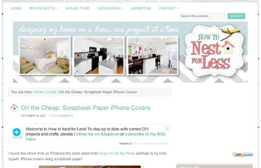 http://howtonestforless.com/2011/10/19/on-the-cheap-scrapbook-paper-iphone-covers/