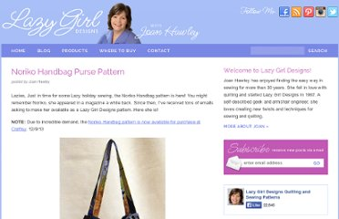 http://www.lazygirldesigns.com/blog/pdf-files/free-purse-pattern-noriko-handbag