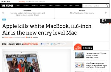 http://www.theverge.com/2011/07/20/apple-kills-white-macbook-11-6-inch-air-entry-level-mac/